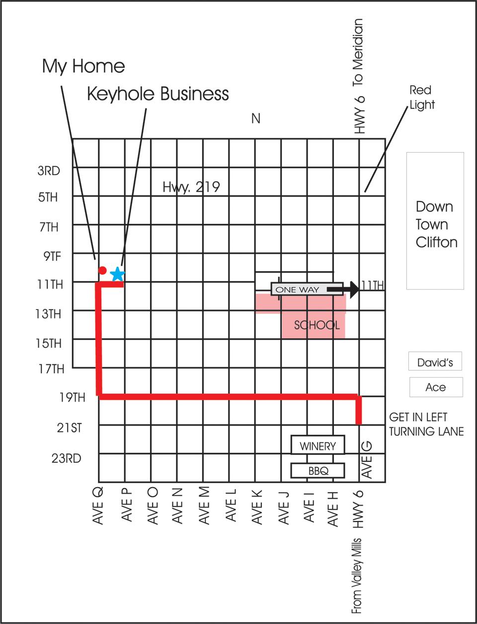 KEYHOLE MAP